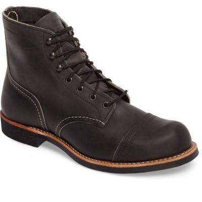 レッドウィング RED WING メンズ ブーツ シューズ・靴 Iron Ranger Cap Toe Boot Charcoal Leather