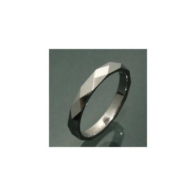 タングステン 指輪 メンズ ブラック ダイヤカット 細身 シンプル リング 黒 ブランド 7-21号 人気 シンプル おしゃれ 男性 女性