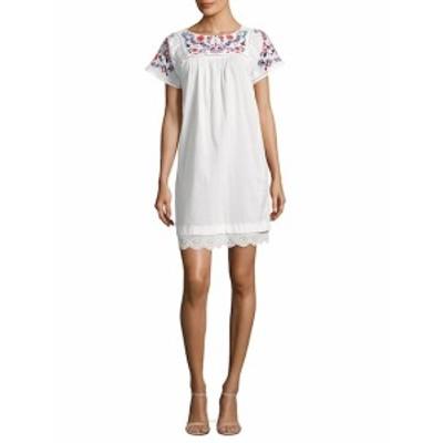 レベッカテイラー レディース ワンピース Garden Embroidered Cotton Shift Dress