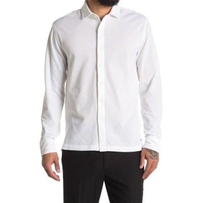 コールハーン メンズ シャツ トップス Long Sleeve Button Down WHITE