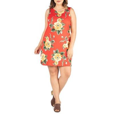 24セブンコンフォート レディース ワンピース トップス Plus Size Sleeveless Shift Dress