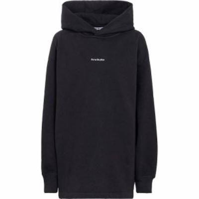 アクネ ストゥディオズ Acne Studios レディース パーカー トップス logo cotton-jersey hoodie Black