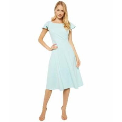 カルバンクライン レディース ワンピース トップス Short Sleeve A-Line Dress with Seam Detail Seaspray