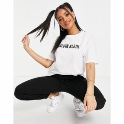 カルバンクライン Calvin Klein Performance レディース Tシャツ ロゴTシャツ トップス logo t shirt in white ブライトホワイト