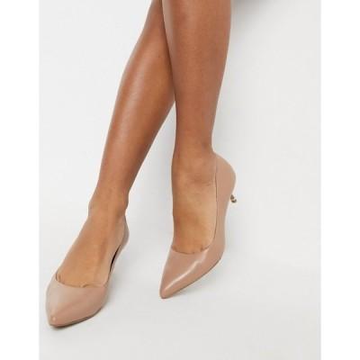 ケネスコール レディース ヒール シューズ Kenneth Cole riley mid heeled court shoe in tan leather Classic tan
