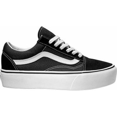 バンズ レディース スニーカー シューズ Vans Old Skool Platform Shoes Black/White