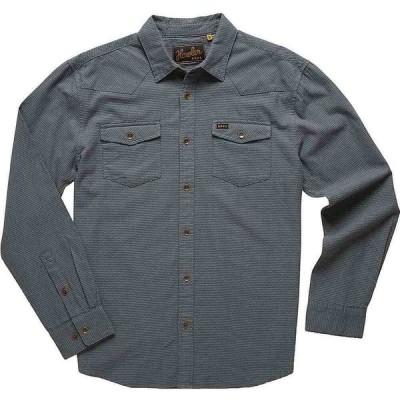 ホウラーブラザーズ Howler Brothers メンズ シャツ トップス Sheridan Longsleeve Shirt Pinpoints/Lake Como Blue