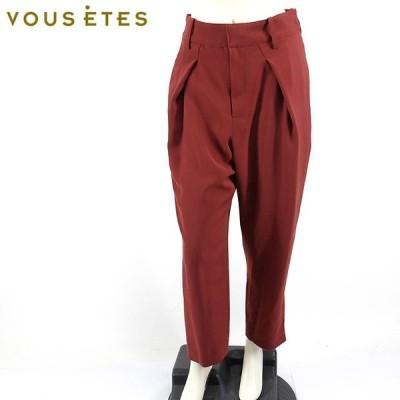 ヴゼット(VOUS ETES)レディース ロングパンツ  ボルドー  タック (サイズ/38)*xv0021