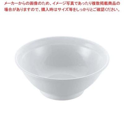 磁器 中華食器 白リム 高台丼 6.5寸【 和・洋・中 食器 】