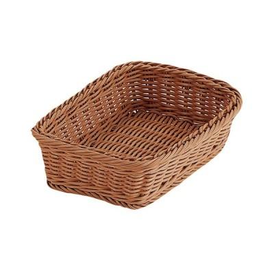 PPラタン 角型バスケット 24型 ブラウン RE-310-BR 01031024 小物入れ かご