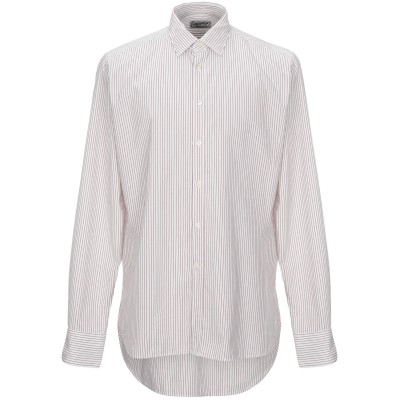 ベヴィラクア BEVILACQUA シャツ レッド L コットン 100% シャツ
