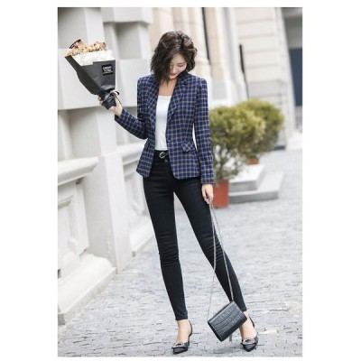 テーラードジャケット コート レディース ショート丈 スーツ トップス 通勤/OL オフィス フォーマル 着痩せ