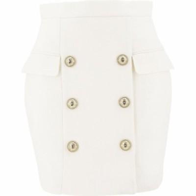 バルマン Balmain レディース スカート Skirt With Embossed Buttons White