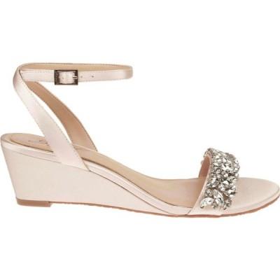 バッジェリー ミシュカ Jewel Badgley Mischka レディース サンダル・ミュール ウェッジソール シューズ・靴 Bellevue Embellished Wedge Sandals シャンパン