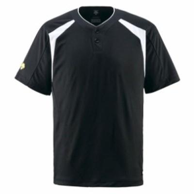 コンビネーションTシャツ【DESCENTE】デサントヤキュウソフトハンソデTシャツ(DB205-BLK)