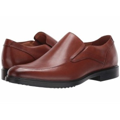 ハッシュパピー メンズ スリッポン・ローファー シューズ Turner MT Slip-On Cognac Waterproof Leather