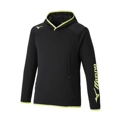 ミズノ(MIZUNO) メンズ レディース テニス ウォームアップフーディ ブラック×セーフティイエロー 62JC1005 94 長袖 パーカー トップス プラクティスウェア