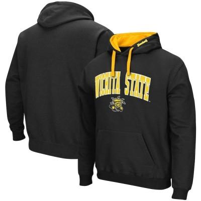 """メンズ パーカー """"Wichita State Shockers"""" Colosseum Arch - Logo 2.0 Pullover Hoodie - Black"""