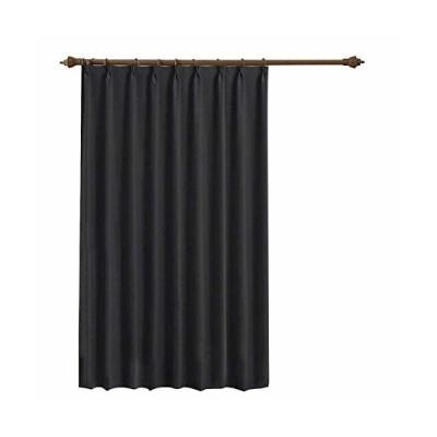 LEEPWEI 遮光カーテン カーテン 1級 ドレープカーテン 幅150cm丈178cm 1枚 ブラック遮光 断熱 防寒 防音 目隠し UVカ