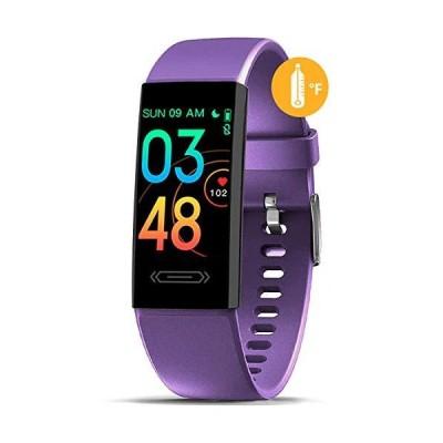MorePro フィットネストラッカー 体温睡眠モニター 健康トラッカー 血圧心拍計 複数のスポーツモード 歩数カロリーカウンター 子供・女性・男性に