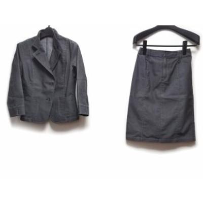ニューヨーカー NEW YORKER スカートスーツ レディース - グレー【還元祭対象】【中古】20200716