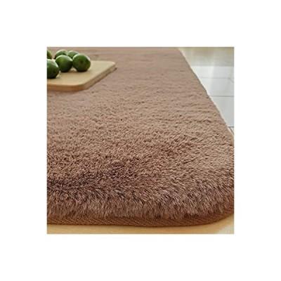 REDREAM ラグ カーペット低反発 ラグマット厚手 絨毯 洗える らぐまっと 1.5畳 極厚 20mm おしゃれ 人造ウサギ毛 ふわふわ 滑り止め