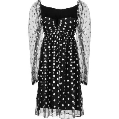 カルラ ジー CARLA G. ミニワンピース&ドレス ブラック 40 ポリエステル 100% ミニワンピース&ドレス