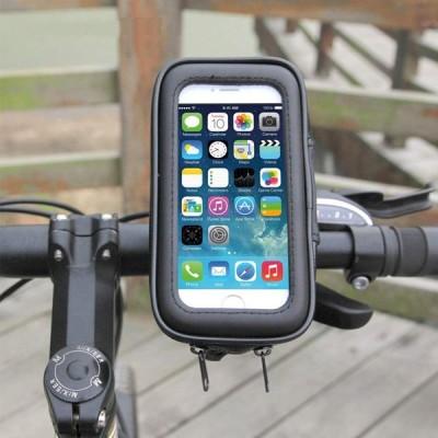 送料390円 スマホホルダー 自転車  Lサイズ 上下左右 角度調整可能 バイク 防水 スマホ ホルダー 携帯ホルダー  アンドロイド iphone 6.5インチまで対応