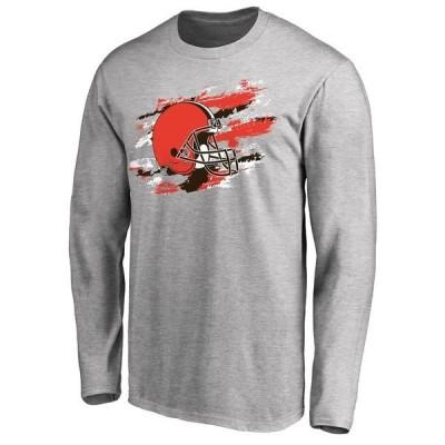 ファナティクス ブランデッド メンズ Tシャツ トップス Cleveland Browns NFL Pro Line True Colors Long Sleeve T-Shirt