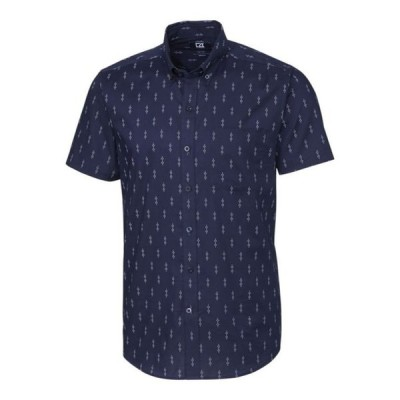 カッターアンドバック メンズ シャツ トップス Men's Big & Tall Strive Keyhole Print Short Sleeve Shirt