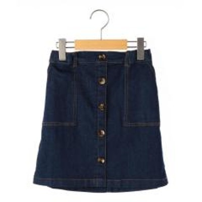 シップスSHIPS KIDS:Aライン デニム スカート2(140~150cm)【お取り寄せ商品】