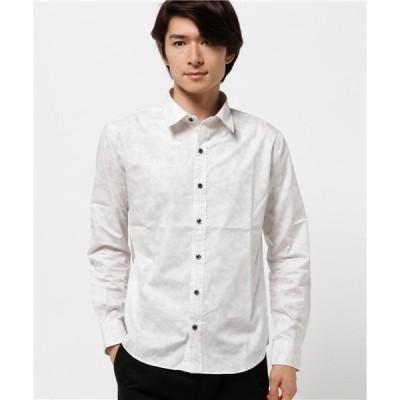 シャツ ブラウス 日本製 グラデーション プリント レギュラー カラー シャツ