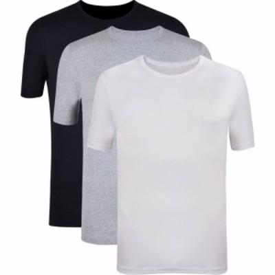 ヒューゴ ボス Boss メンズ Tシャツ 3点セット ロゴTシャツ トップス Three Pack Logo T Shirt Wht/Blk/Gry