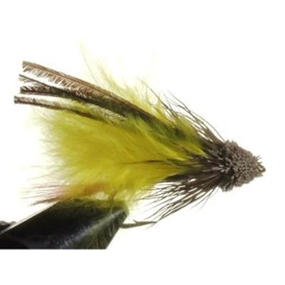 ストリーマー マドラーマラブー イエロー(#6 #8 #10) 完成品フライ フライ フィッシング 毛鉤 釣り  ヤマメ イワナ アマゴ 渓流 管理釣り