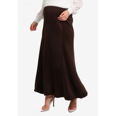 BYN レディース ロング・マキシ丈スカート スカート Pregnancy Long Skirt Brown