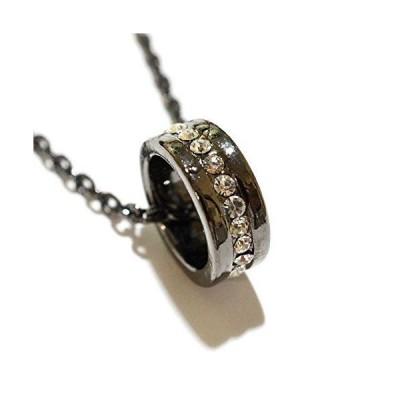 「永遠の愛の象徴」と言われるエタニティリングネックレス アクセサリー メンズ レディース ペアネックレス リングネックレス ジルコニア (メ