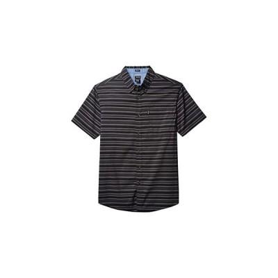 ディッキーズ X-Series Modern Fit Flex Plaid Shirt メンズ シャツ トップス Black Smoke Stripe