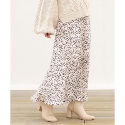 スカート フラワープリントスカート/マーメイドスカート