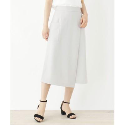 index / ストレッチラップデザインナロースカート【WEB限定サイズ】 WOMEN スカート > スカート