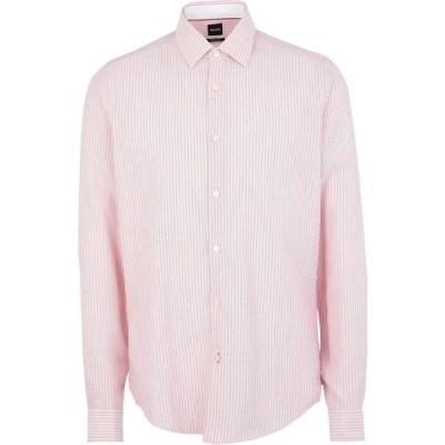ヒューゴ ボス BOSS HUGO BOSS メンズ シャツ トップス Striped Shirt Red