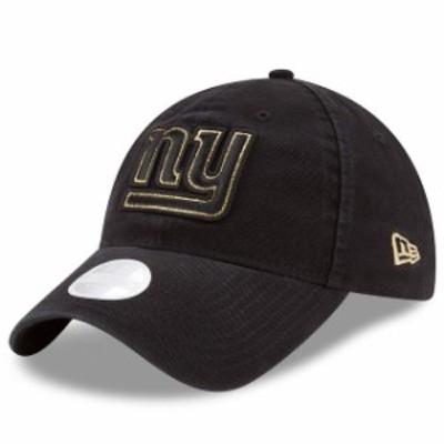 New Era ニュー エラ スポーツ用品  New Era New York Giants Womens Black Team Glisten 9TWENTY Adjustable Hat