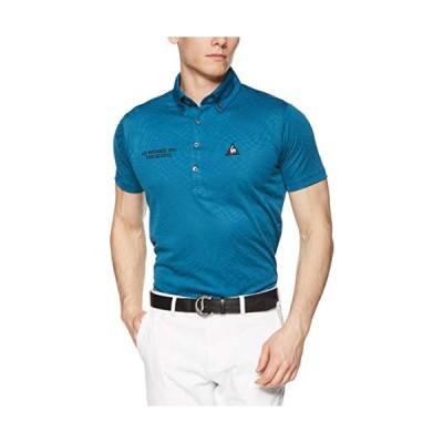 [le coq sportif/GOLF COLLECTION]ツイストチェックジャカードポロシャツ QGMNJA04 メンズ BL00(ブルー) 日本 M (日本サイズM?