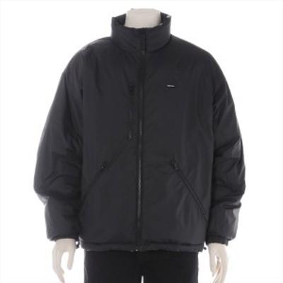 シュプリーム 20AW ポリエステル 中綿ジャケット M メンズ ブラック  Watches Reversible Puffy Jacket リバーシブル