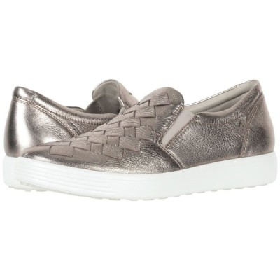 エコー ECCO レディース スリッポン・フラット シューズ・靴 Soft 7 Woven Slip-On Warm Grey Cow Leather