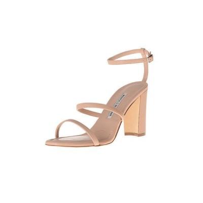 ハイヒール マノロブラニク Manolo Blahnik LAFTA 90 Sandals Leather NUDE Beige Block Heels Shoes 41 41.5