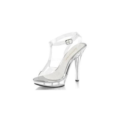 """プリーザー pleaser サンダル Fabulicious LIP-118 5"""" Heel LIP118-C-M  クリアー フィルム レディース 靴 お取り寄せ商品"""