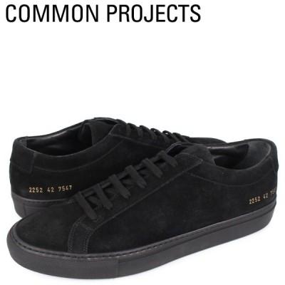 コモンプロジェクト Common Projects アキレス ロー スエード スニーカー メンズ ACHILLES LOW SUEDE ブラック 黒 2252-7547