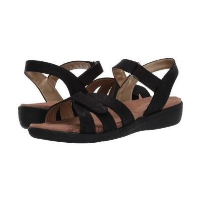 Soft Style ソフトスタイル レディース 女性用 シューズ 靴 サンダル Pearle - Black 1