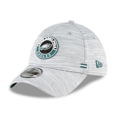 イーグルス キャップ 帽子 NFL ニューエラ New Era グレー 2020 NFL サイドライン 39THIRTY メンズ
