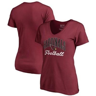 ファナティクス ブランデッド レディース Tシャツ トップス Arizona Cardinals NFL Pro Line by Fanatics Branded Women's Victory Script V-Neck T-Shirt